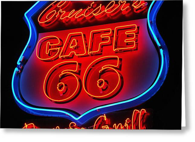Route 66 Greeting Card by Donna Greene