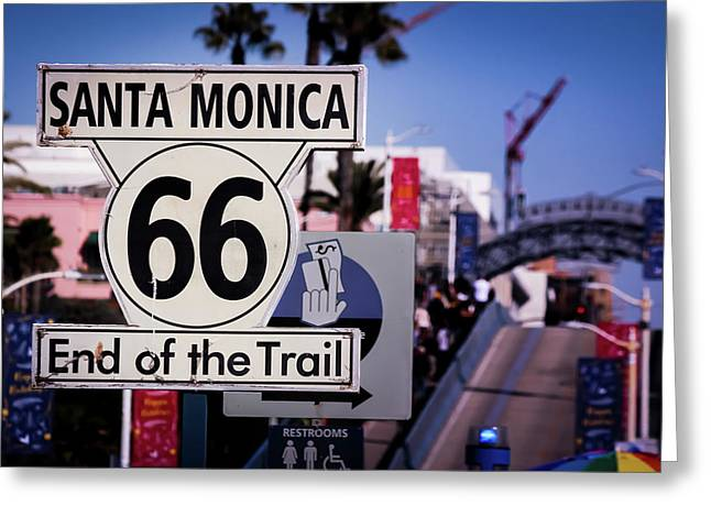 Route 66 End Of Trail Greeting Card