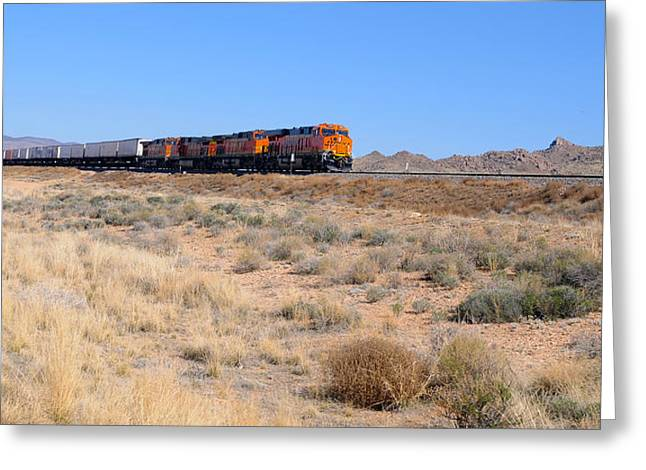 Route 66 Freight Train Greeting Card