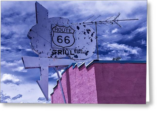 Route 66 Grill Greeting Card