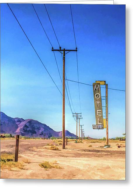 Route 66 Henning Motel Greeting Card