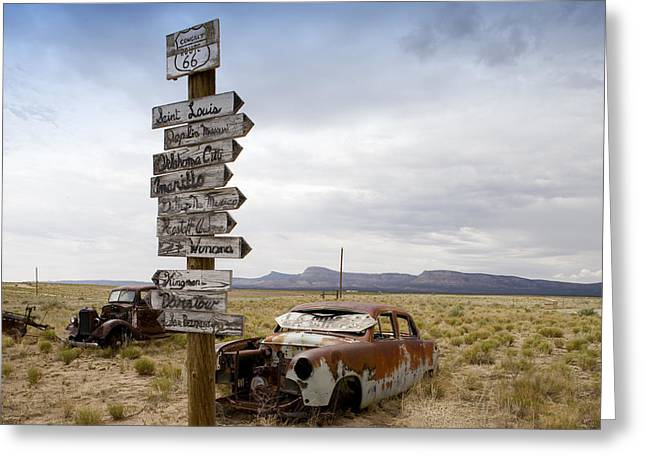 Route 66 In Arizona Greeting Card by Carol M Highsmith