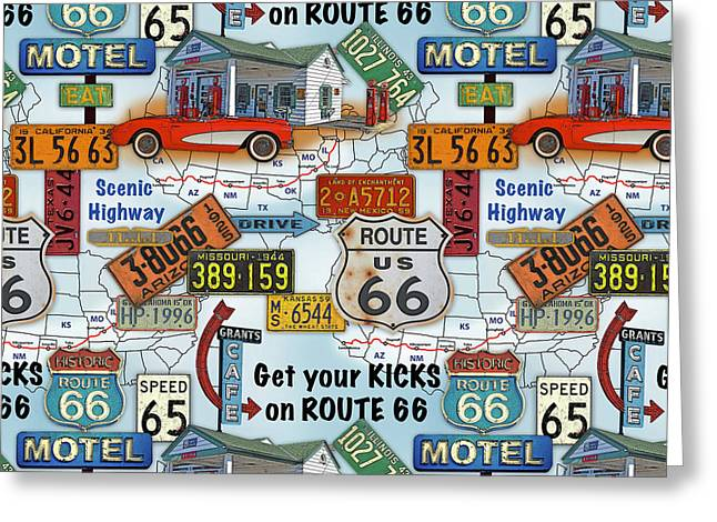 Route 66-jp3933-b Greeting Card
