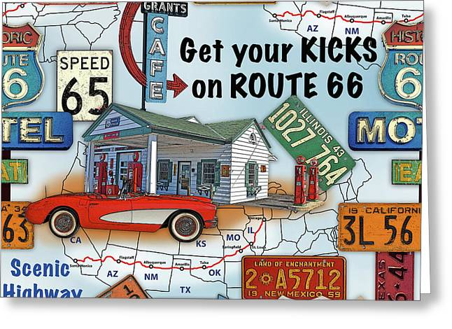 Route 66-jp3933 Greeting Card