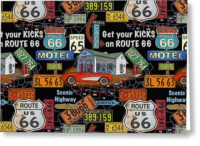 Route 66-jp3934-b Greeting Card