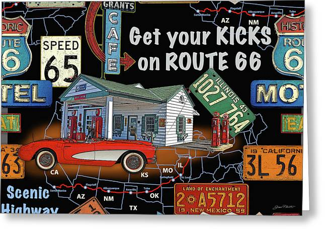 Route 66-jp3934 Greeting Card