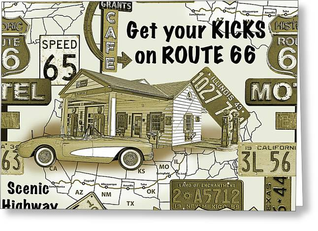 Route 66-jp3936 Greeting Card