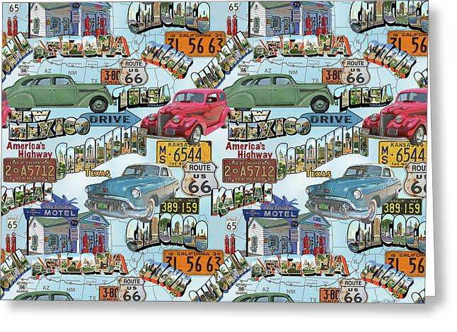 Route 66-jp3938-b Greeting Card