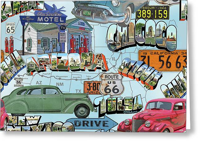 Route 66-jp3938 Greeting Card