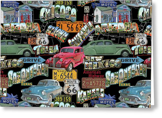 Route 66-jp3939-b Greeting Card