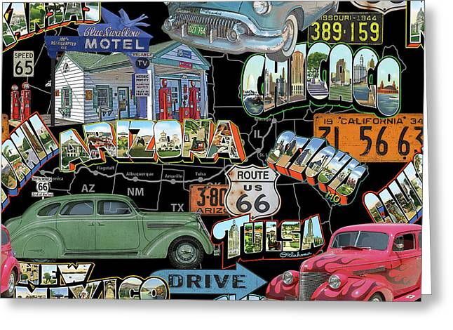 Route 66-jp3939 Greeting Card