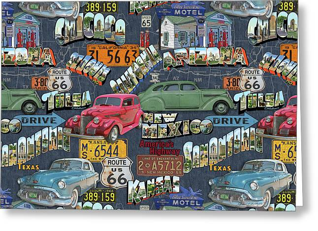 Route 66-jp3940-b Greeting Card