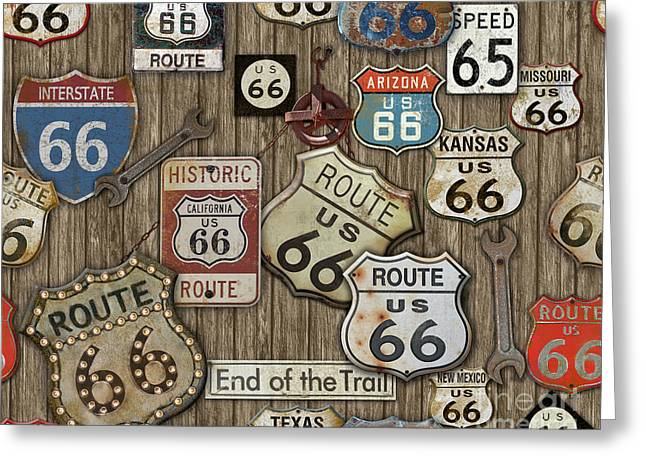 Route 66-jp3956 Greeting Card
