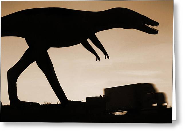 Route 66 - Lost Dinosaur  Greeting Card