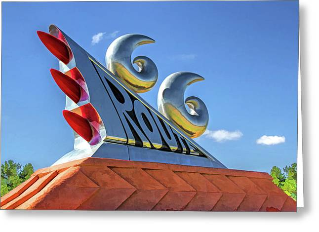 Route 66 Monument Greeting Card