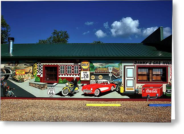 Route 66 Mural Greeting Card by Mountain Dreams