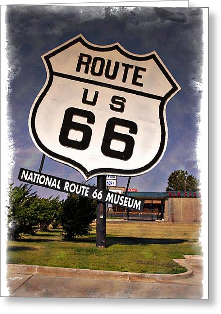 Route 66 Museum - Impressions Greeting Card