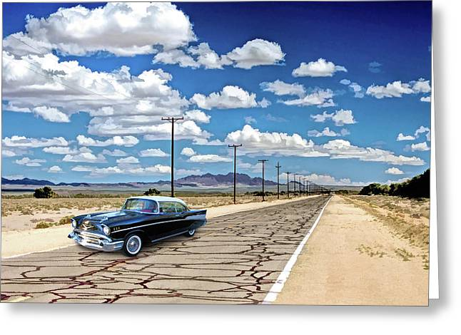Route 66 Newberry Springs California Greeting Card