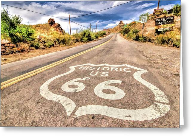 Route 66 Oatman Arizona Greeting Card