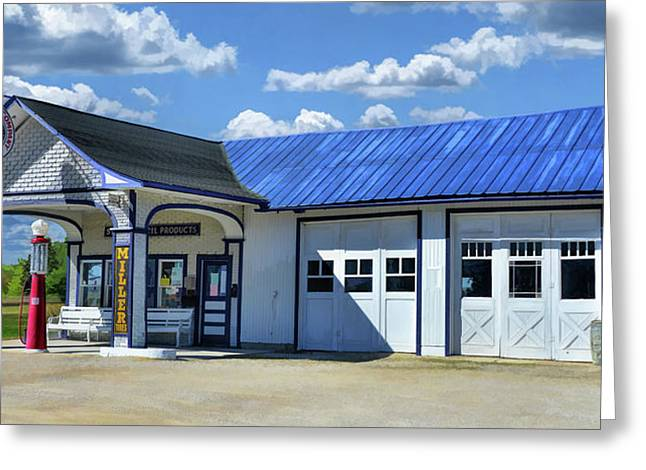 Route 66 Odell Standard Oil Station Greeting Card