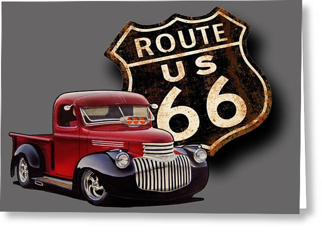 Route 66 Pickup Greeting Card