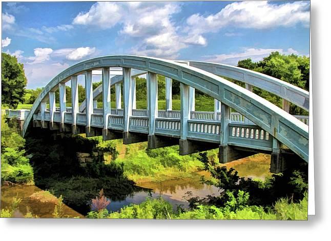 Route 66 Rainbow Curve Bridge Greeting Card