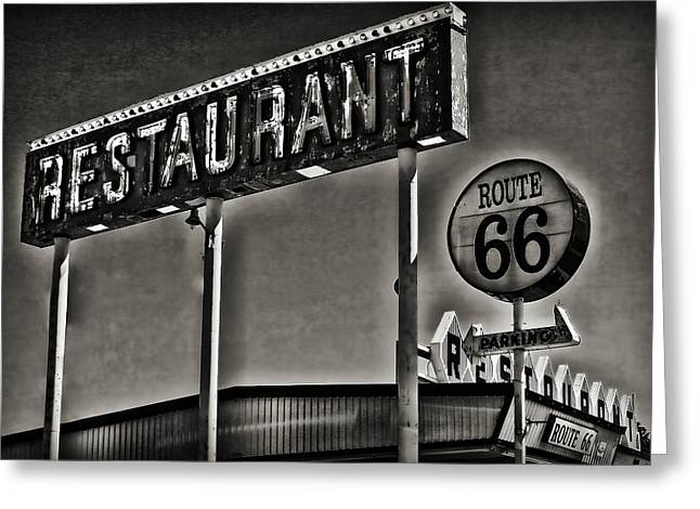 Route 66 Restaurant Greeting Card