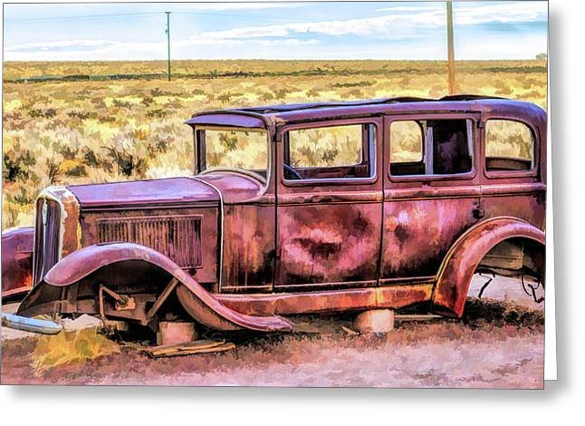 Route 66 Rusted 1932 Studebaker Greeting Card