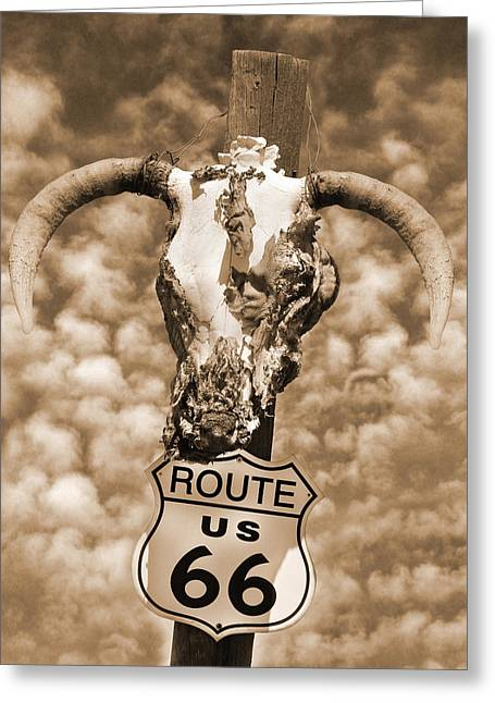 Route 66 Sign Greeting Card by Mike McGlothlen