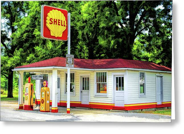 Route 66 Soulsby Service Station Greeting Card