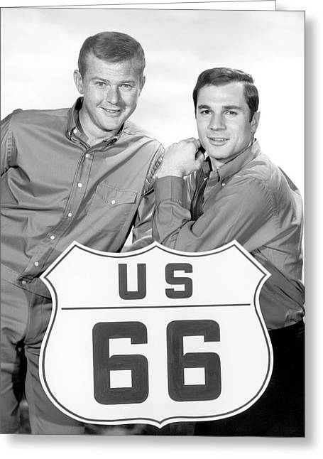 Route 66 Stars 1962 Greeting Card by Daniel Hagerman