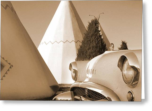 Route 66 - Staying At The Wigwam Greeting Card