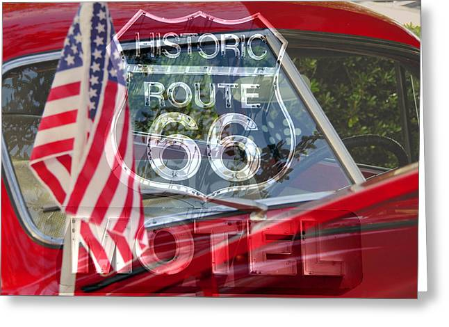 Greeting Card featuring the photograph Route 66 The American Highway by David Lee Thompson