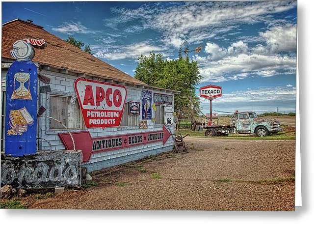 Route 66 Towing Greeting Card