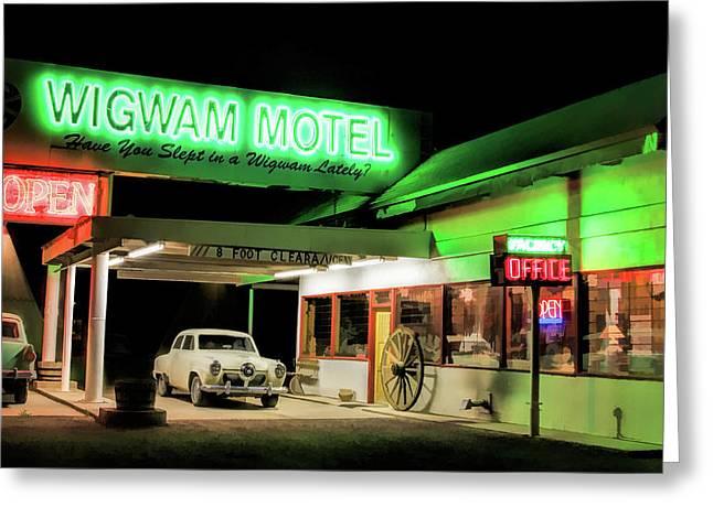 Route 66 Wigwam Motel Car Port Greeting Card