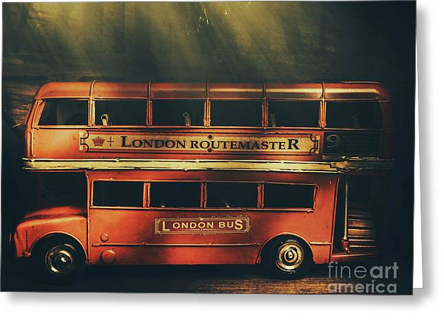 Routemaster Bus Station Greeting Card