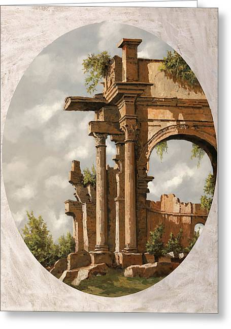 Rovine Romane Greeting Card by Guido Borelli