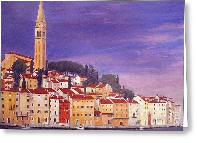 Rovinj Greeting Card by Anthony Meton