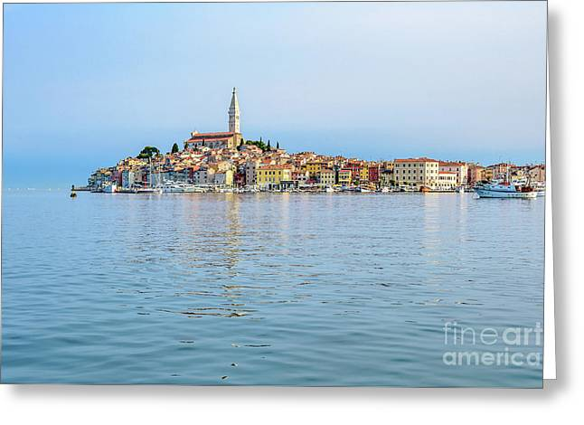 Rovinj In The Early Morning Fog, Istria, Croatia Greeting Card
