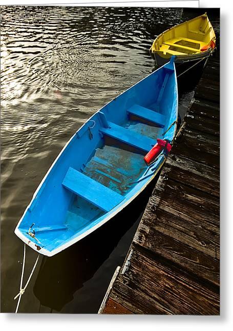 Row Boats Greeting Card by Dale Stillman