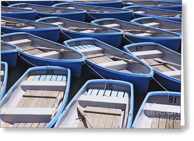 Row Boats For Hire Greeting Card by Jeremy Woodhouse