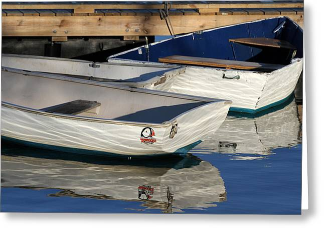 Greeting Card featuring the photograph Row Boats In Manchesta  by Juergen Roth