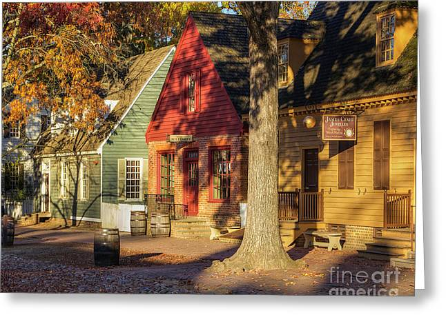Row Houses Duke Of Gloucester Colonial Williamsburg Greeting Card