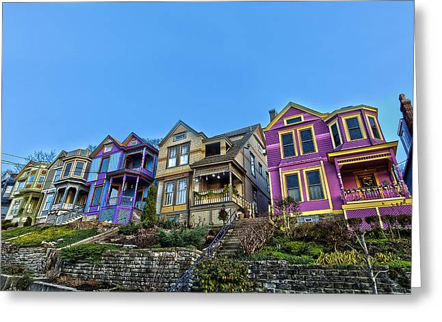 Row Houses Greeting Card