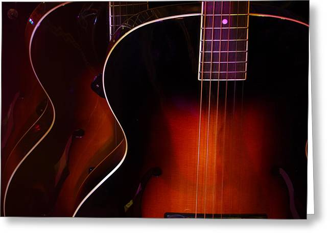 Row Of Guitars Greeting Card