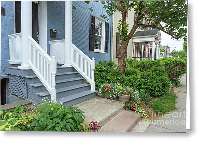 Row Of Historic Row Houses Greeting Card by Edward Fielding