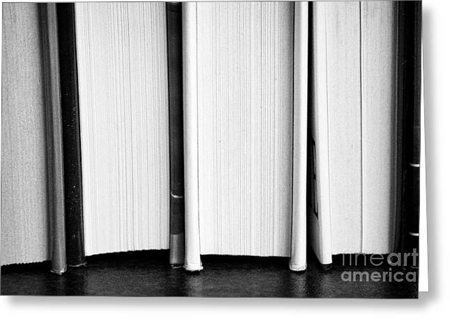 Row Of Used Hardback Books In The Uk Greeting Card by Joe Fox