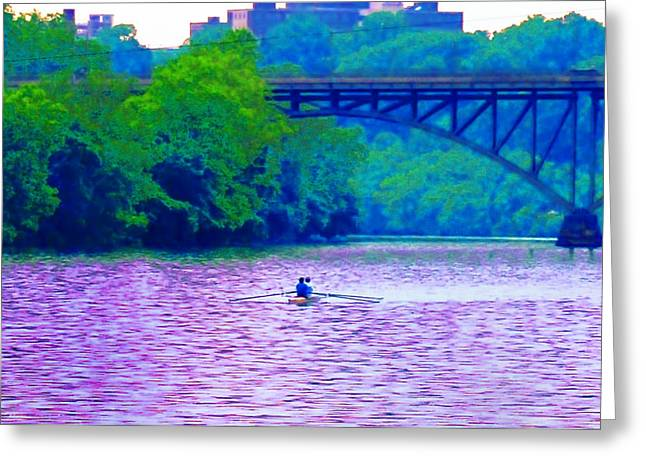 Row Row Row Your Boat Greeting Card by Bill Cannon
