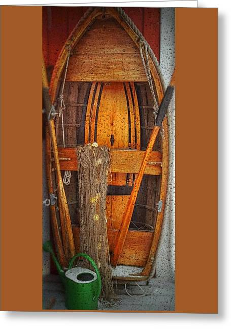 Rowboat Sandhamn Greeting Card by Jeffrey Canha
