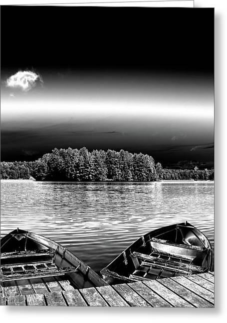 Rowboats At The Dock 3 Greeting Card